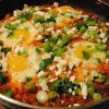 Eggs With Spicy Tomatoes And Beans