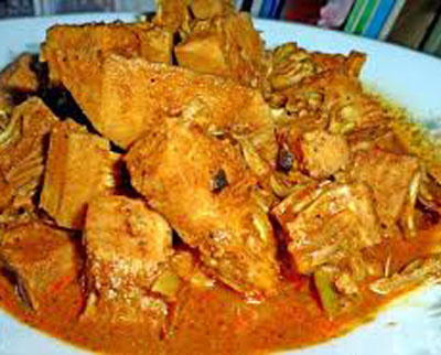 Polos Ambula (Green Jackfruit Curry)