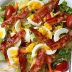 Sweet potato, bacon, and egg salad