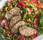 Spinach-and-Barley Salad with Grilled Pork