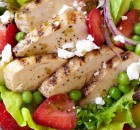 Grilled Chicken and Strawberry Cobb Salad