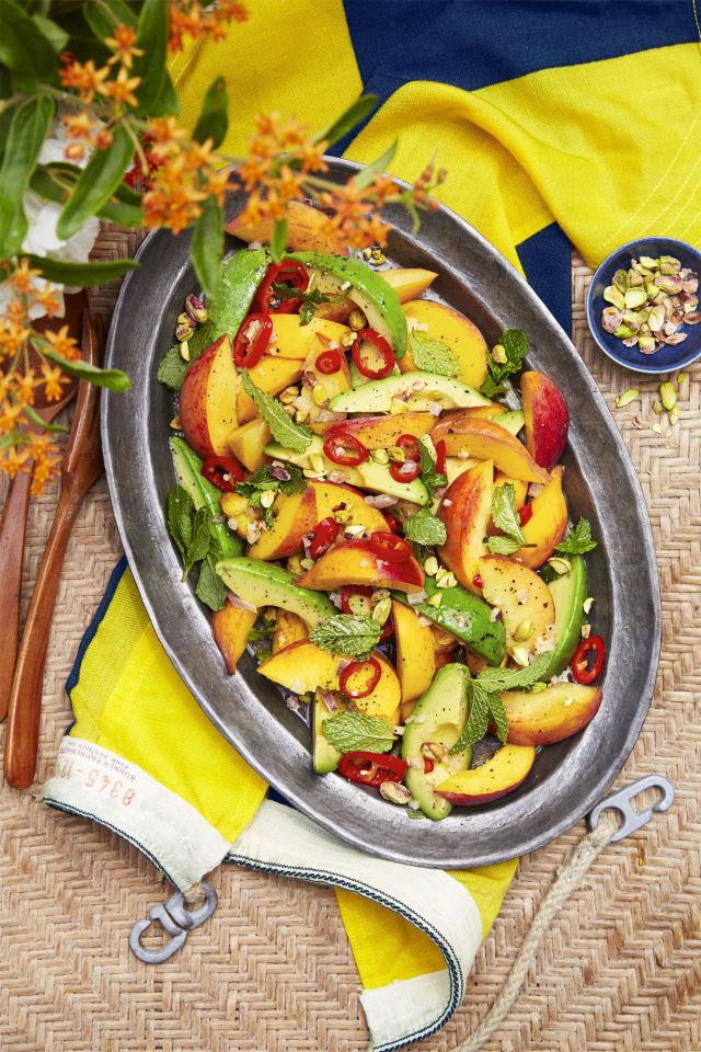 Spicy Peach and Avocado Salad